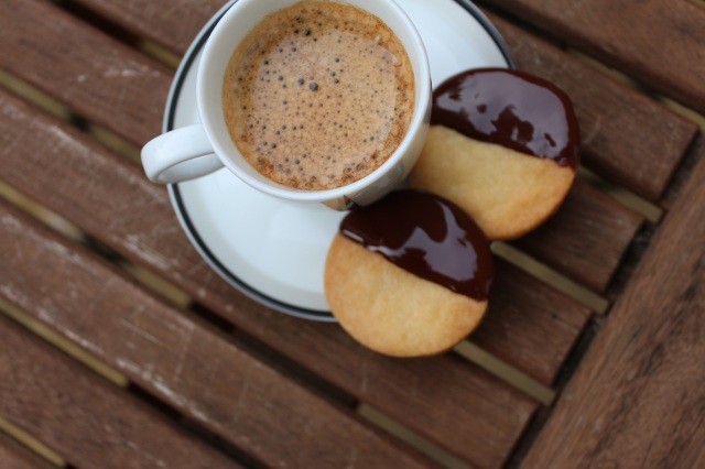 chocolate shortbread and espresso