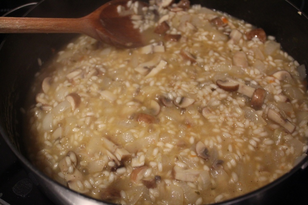 risotto cooking 2
