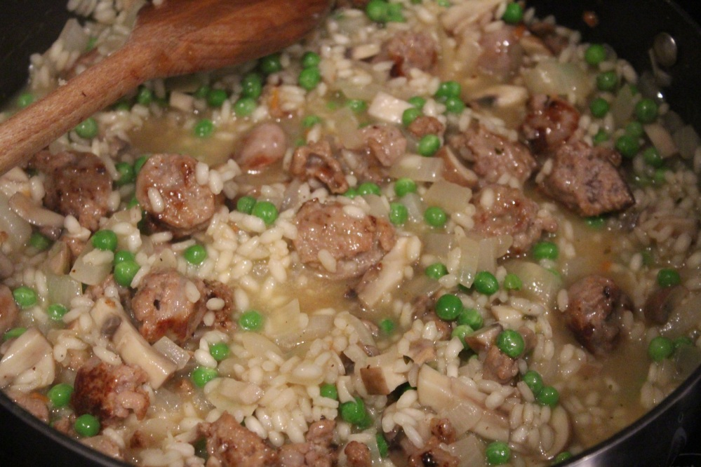 risotto cooking